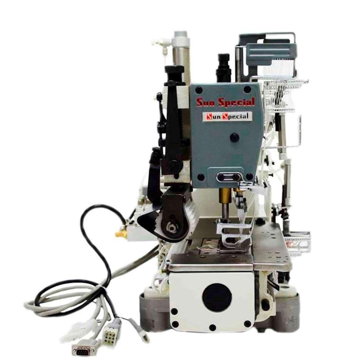 Máquina Costura Industrial Ponto Corrente Cilíndrica Eletrônica 12 Agulhas SSTC118-12064-PD-CF Sun Special