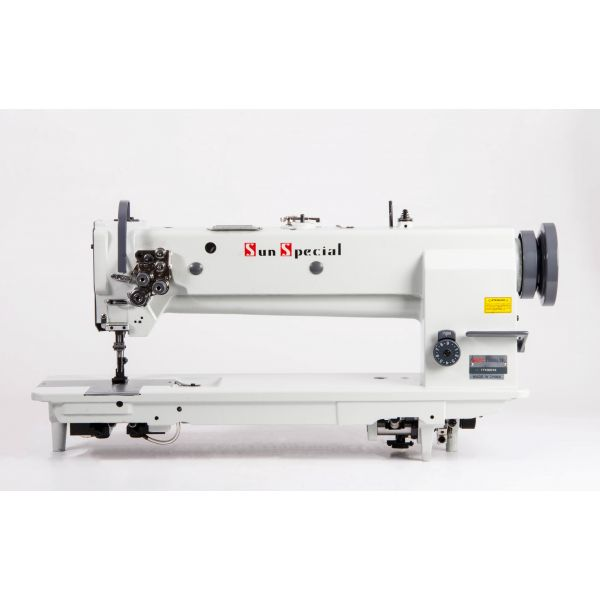 Máquina Costura Industrial Pespontadeira 2 Agulhas Base Longa SSTC31606L18 Sun Special