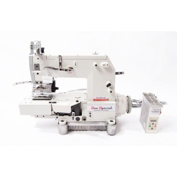 Máquina Costura Industrial Elastiqueira Cilíndrica 12 Agulhas SSTC118-12064-DP-H-SU Sun Special