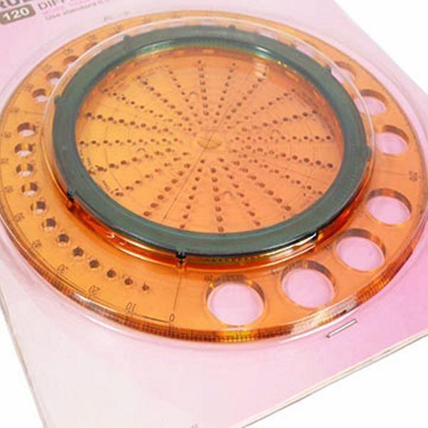 Régua Circular Plástico Modelista Laranja MTCR-01A Circle Ruler