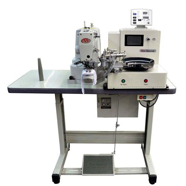 Máquina Costura Industrial Botoneira Eletrônica SS-438D-ABF Sun Special