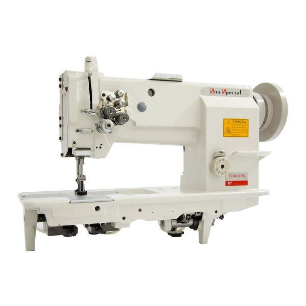 Máquina Costura Industrial Pespontadeira Plana Transporte Triplo 2 Agulhas SSH4420-MQ Sun Special