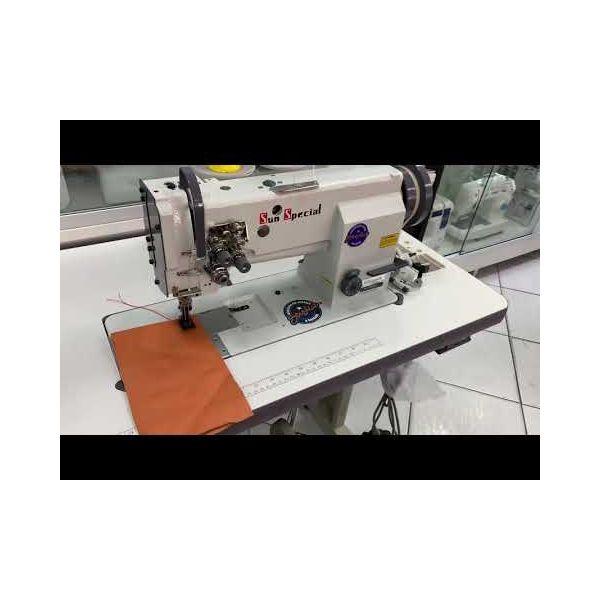 Máquina Costura Industrial Pespontadeira Transporte Triplo 2 Agulhas SSTC31606 Sun Special